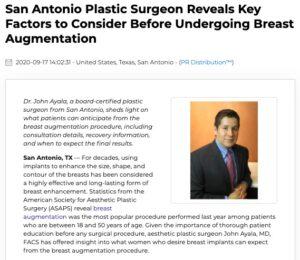 San Antonio Plastic Surgeon Reveals Top Things to Know Before Breast Augmentation